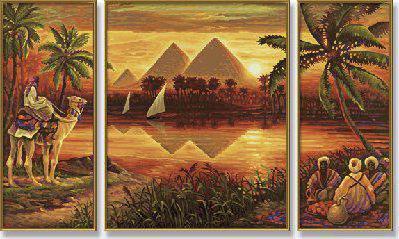 Египетские мотивы в вышивке крестом