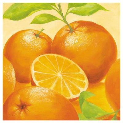 схеме вышивки. Апельсины