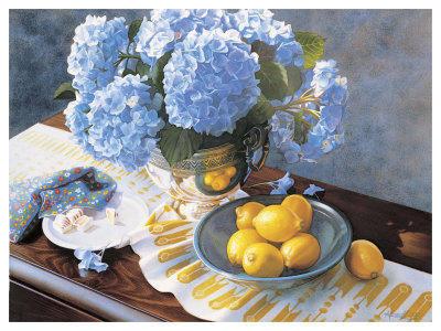 Гортензия и лимоны, гортензия,