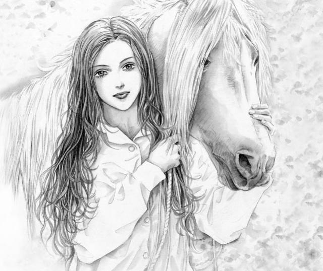 Девушка с конем, оригинал