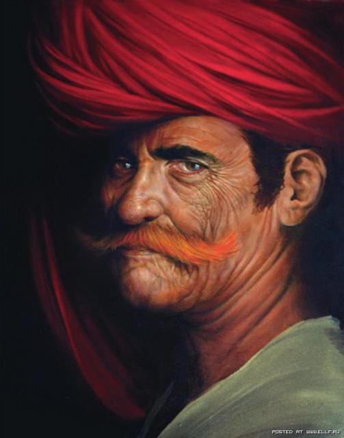 Восточный мужчина, портрет