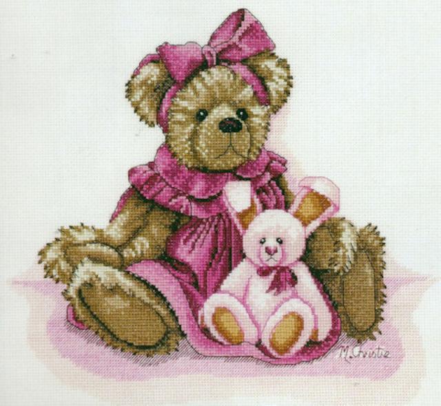 Медвежата вышивка