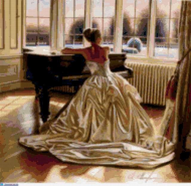 За фортепиано, предпросмотр