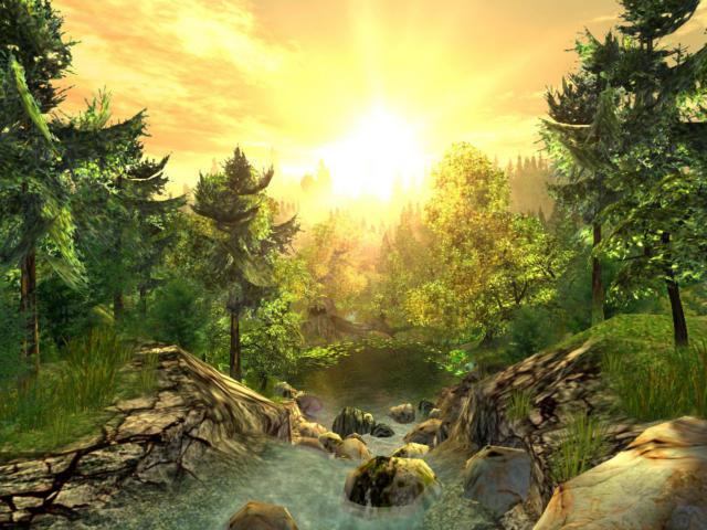Рассвет в лесу, оригинал