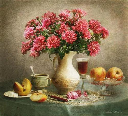 Натюрморт с цветами, цветы,