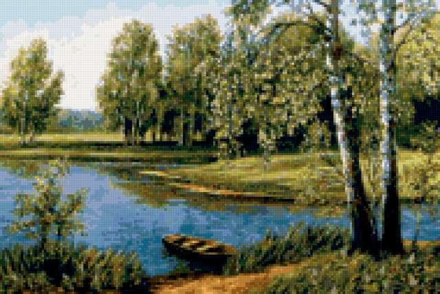 Березы у реки, предпросмотр