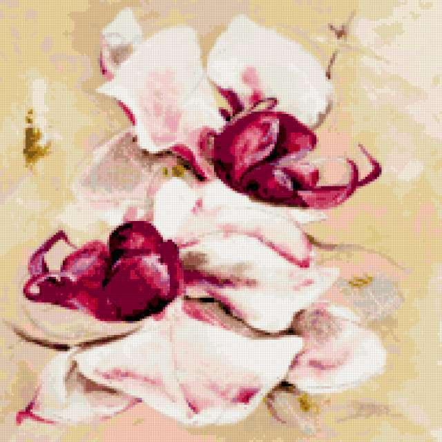 Орхидея, цветы, картина