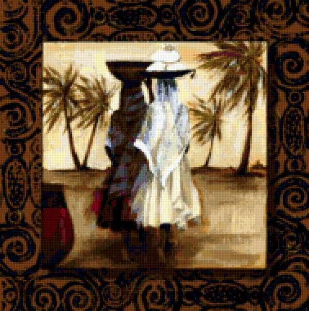 восток, арабки, пальмы,