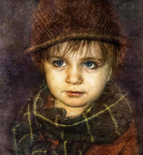 Гаврош, мальчик, картина