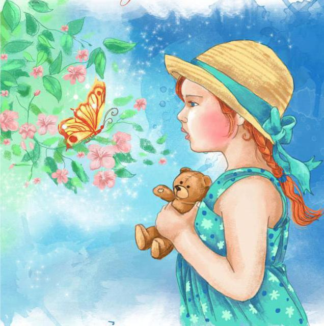 Девочка и бабочка, оригинал