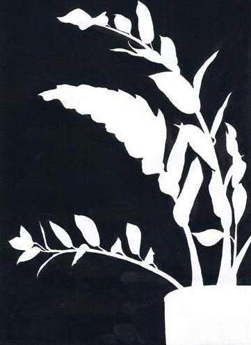 Триптих 1 черно-белые цветы,