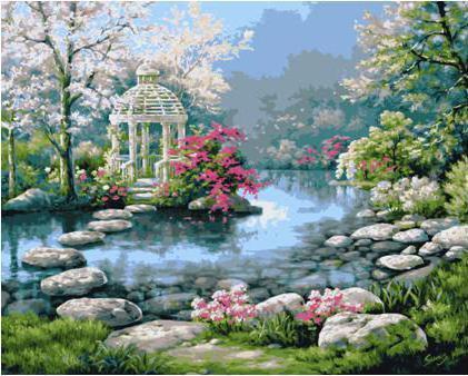 Японский садик, природа