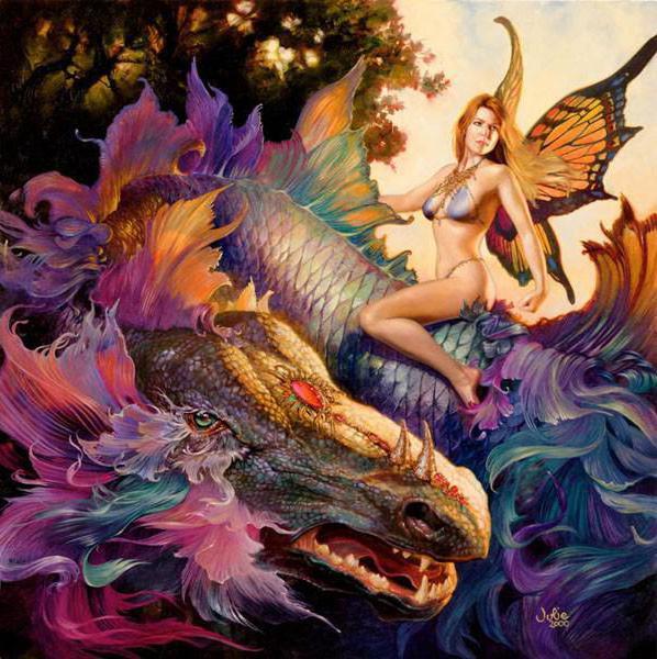 Фея и дракон, оригинал
