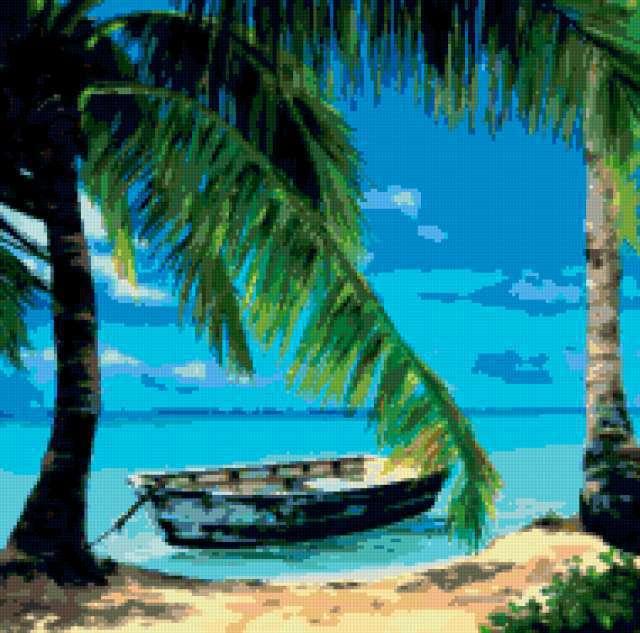 Тропический пляж 3