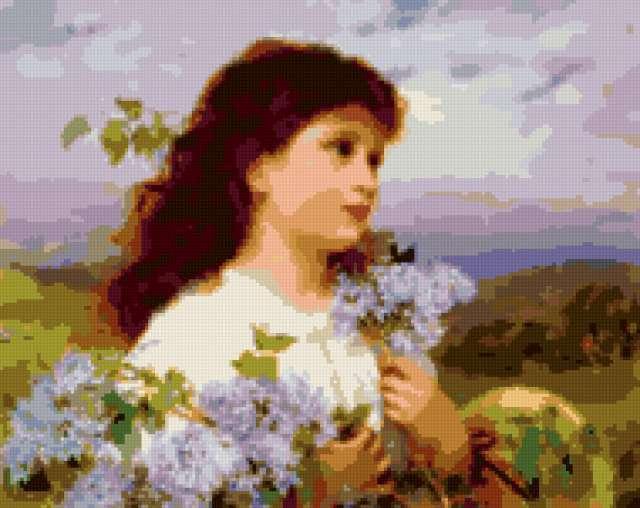 Девушка с сиренью