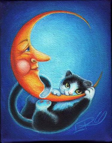 Кот и месяц, оригинал