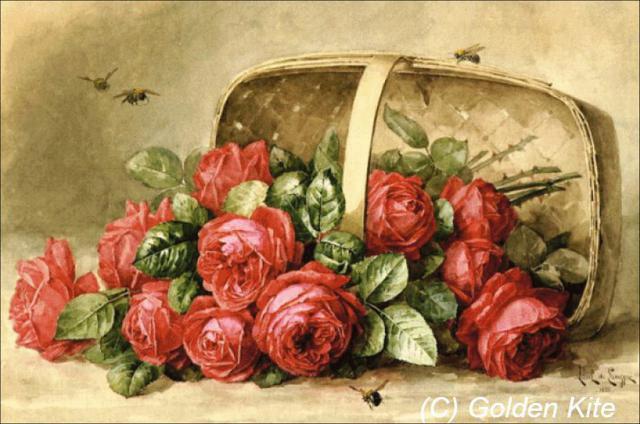 Корзина с цветами, цветы,