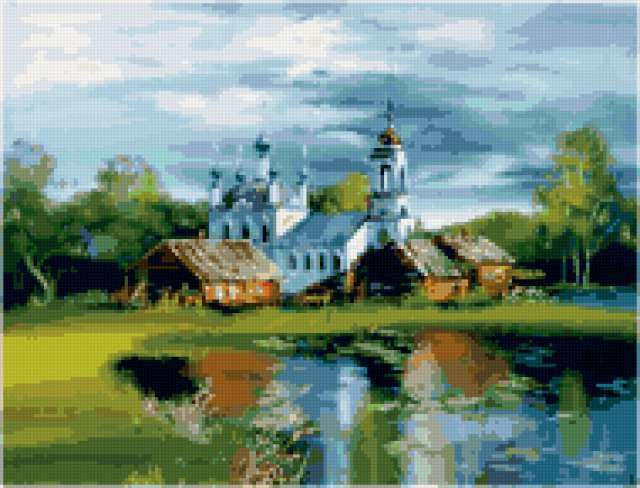 Сельская церковь, предпросмотр