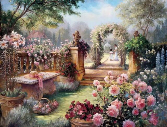 Цветущий сад, цветок, цветы