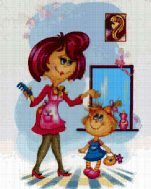 Схема вышивка парикмахер