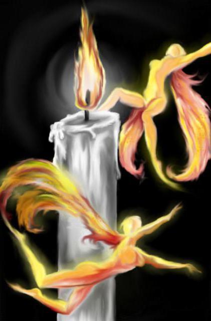 В танце огня, свеча, свечка,