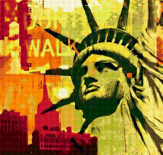 New York, америка, статуя,