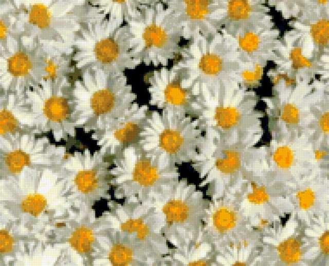 "Подушка ""Ромашки"", цветы"