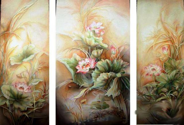 (Япония), цветы, картина