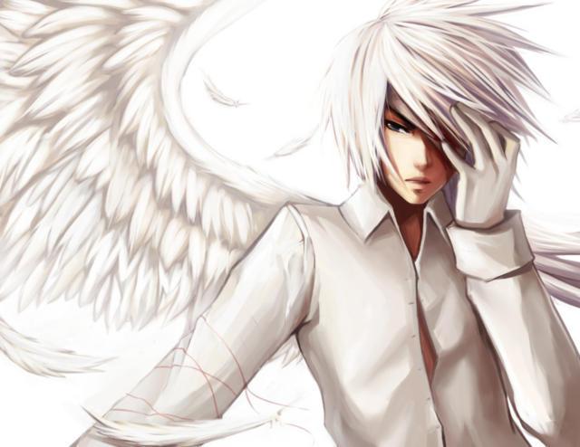 """Белый ангел, """"аниме, парень,"""