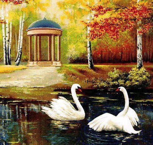 Лебединое озеро, пейзаж