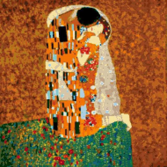 Схема вышивки «Климт Поцелуй»