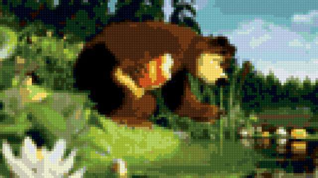 Миша, маша и медведь, детям,
