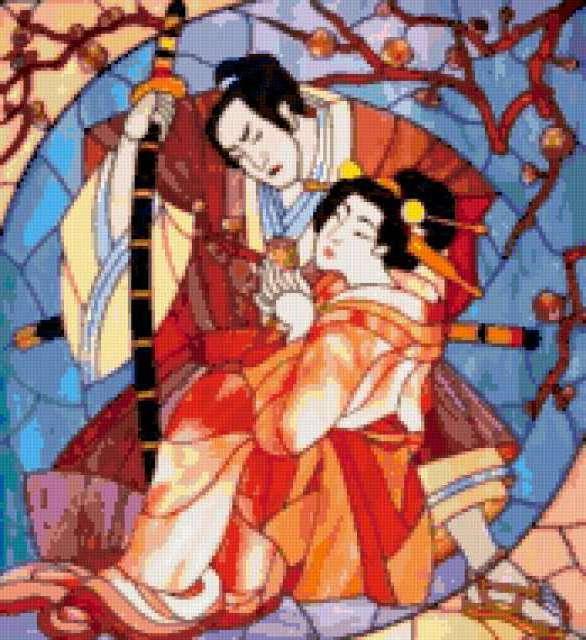 Гейша и самурай, япония,