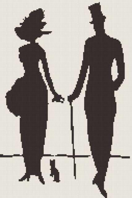 Силуэт пары, предпросмотр