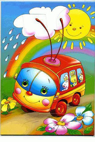 дождик, автобус, картина,