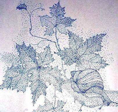 Улитка на виноградной лозе,