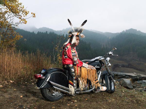 Индеец на мотоцикле, оригинал