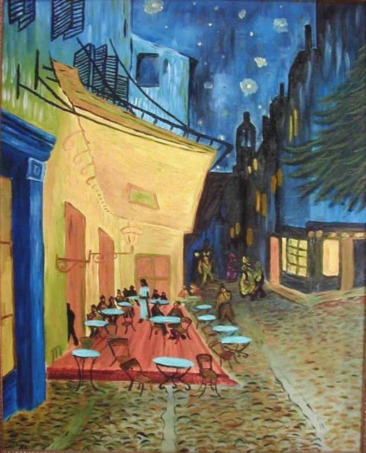 Терраса кафе ночью — Ван Гог,