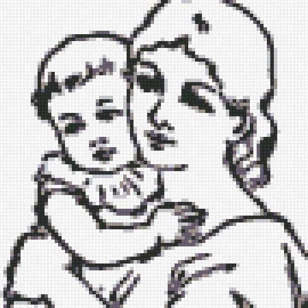 """мама с ребенком"" монохром,"