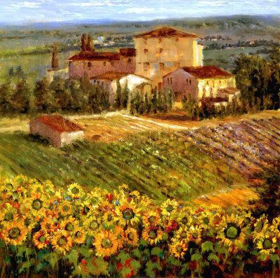 Дом и подсолнуховое поле,