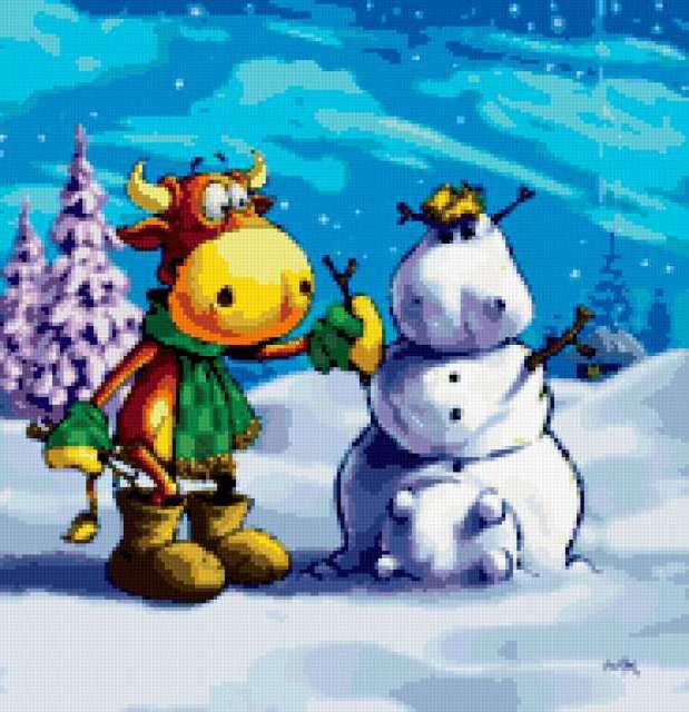 Снежная корова, предпросмотр
