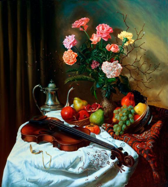 Розы и скрипка, оригинал