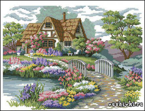 Домик в саду, оригинал