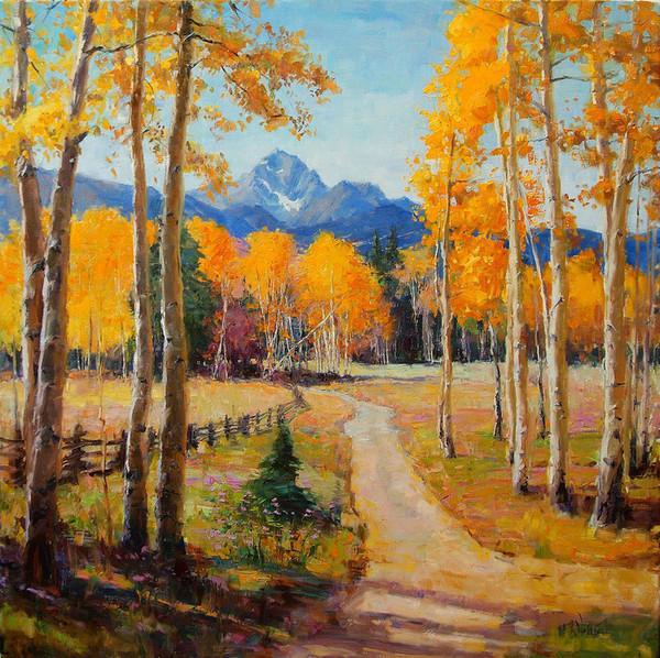 Золотая осень, живопись