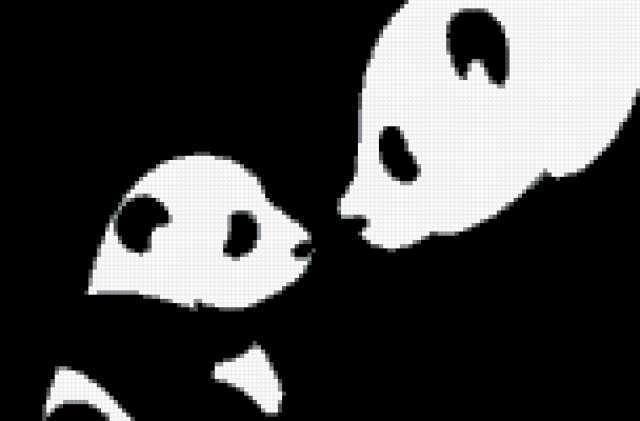 Милые панды, мишки черно белые