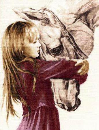 Девочка и конь, оригинал