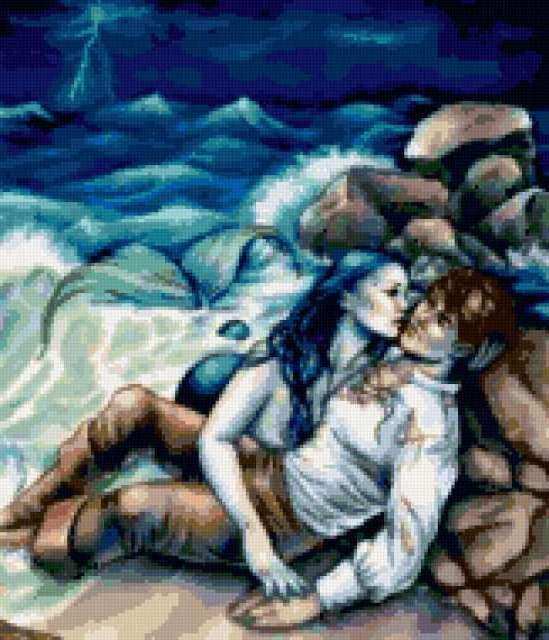 Спасение моряка русалкой
