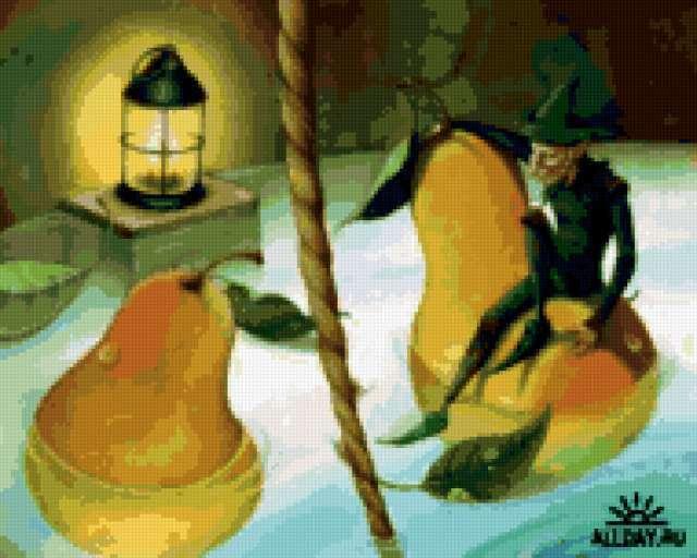 Гном и груши, предпросмотр