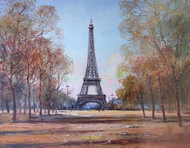 Прогулка в Париже, париж,