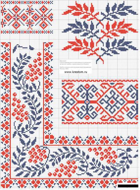 Украинская вышивка, скатерти и